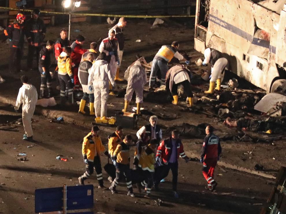 Explosión en Estambul.
