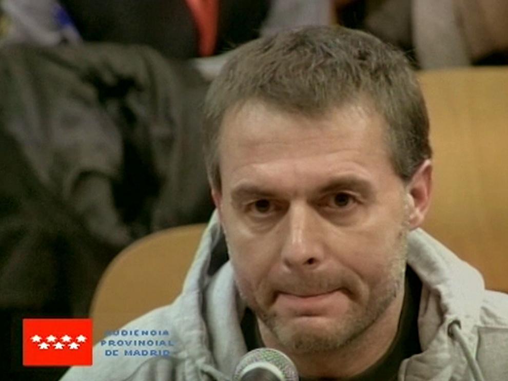 El presunto pederasta de Ciudad Lineal declarando ante la Audiencia de Madrid.