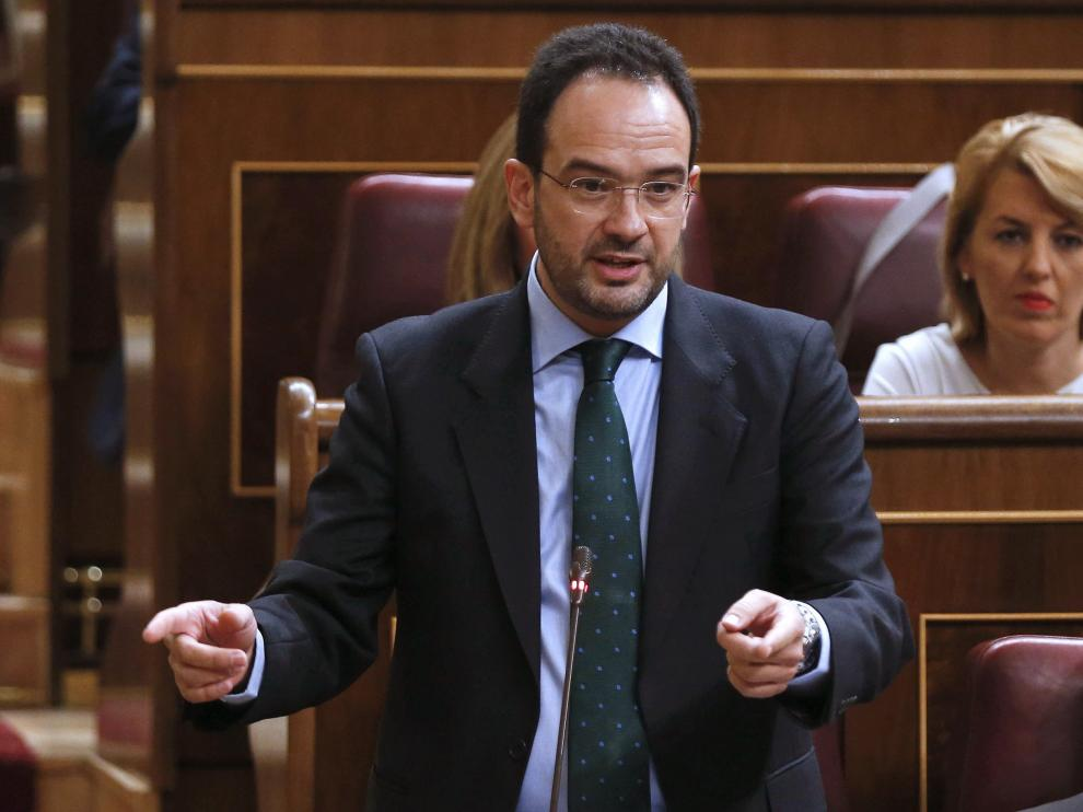 Antonio Hernando en el Congreso de los Diputados.