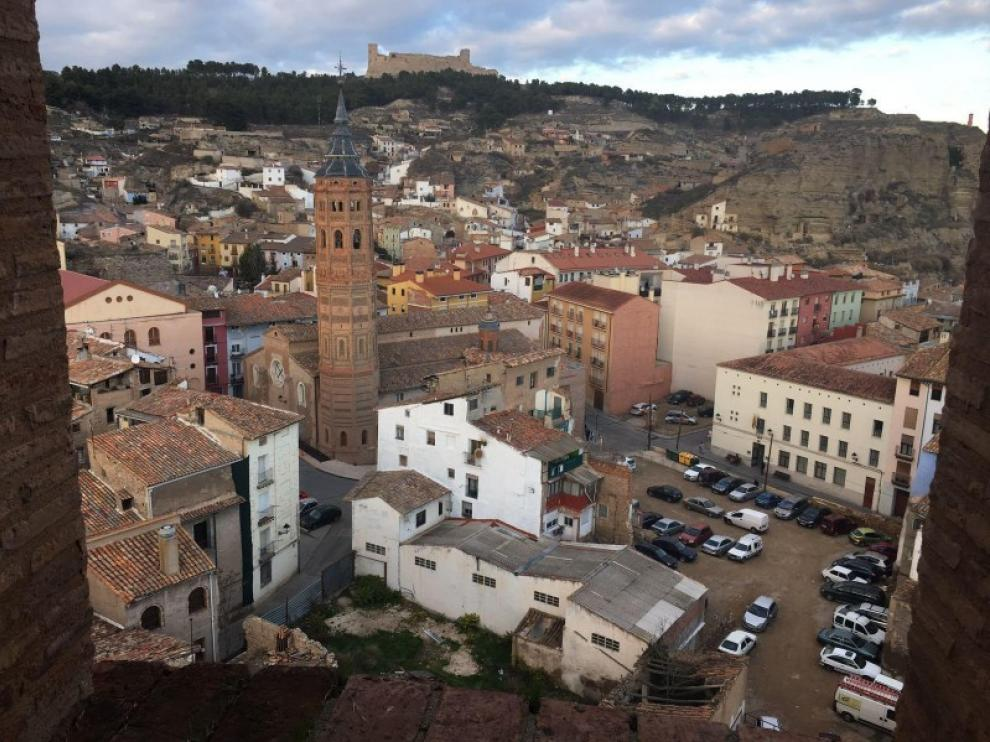 Las vistas de Calatayud desde el campanario de la torre.