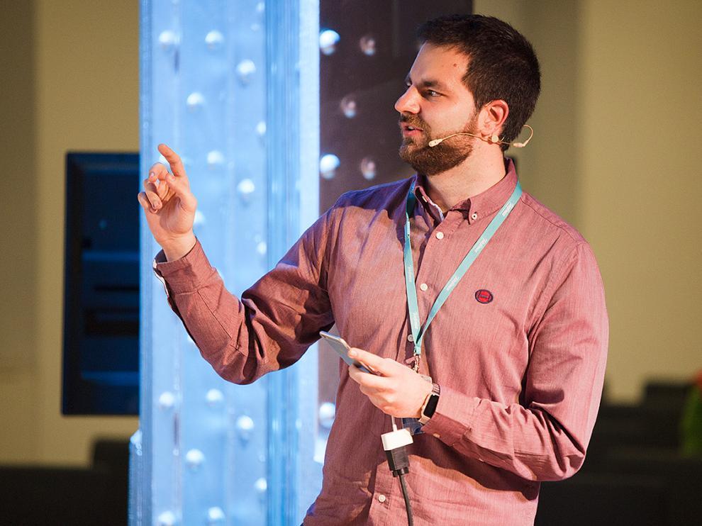 Javier Cobos, en la entrega de los premios The App Date celebrada este jueves.