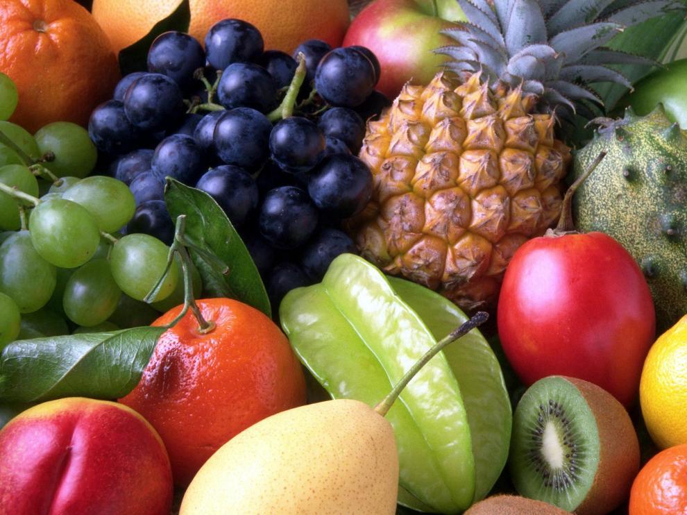 En la imagen, diferentes tipos de frutas.
