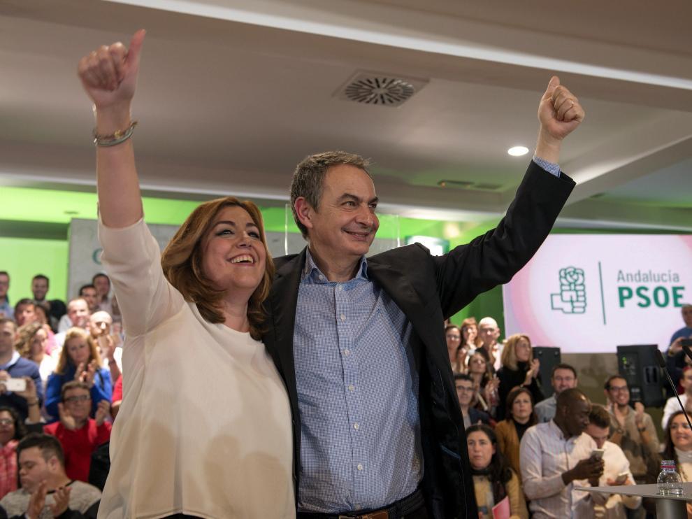 Susana Díaz y José Luis Rodríguez Zapatero