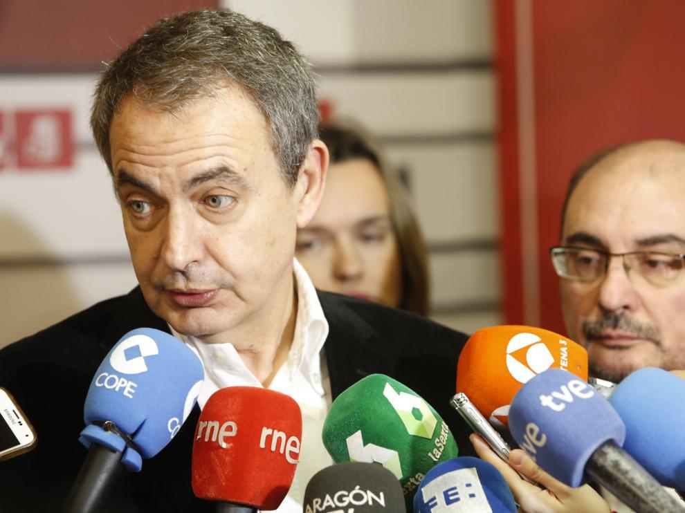 Zapatero en su visita a Zaragoza.