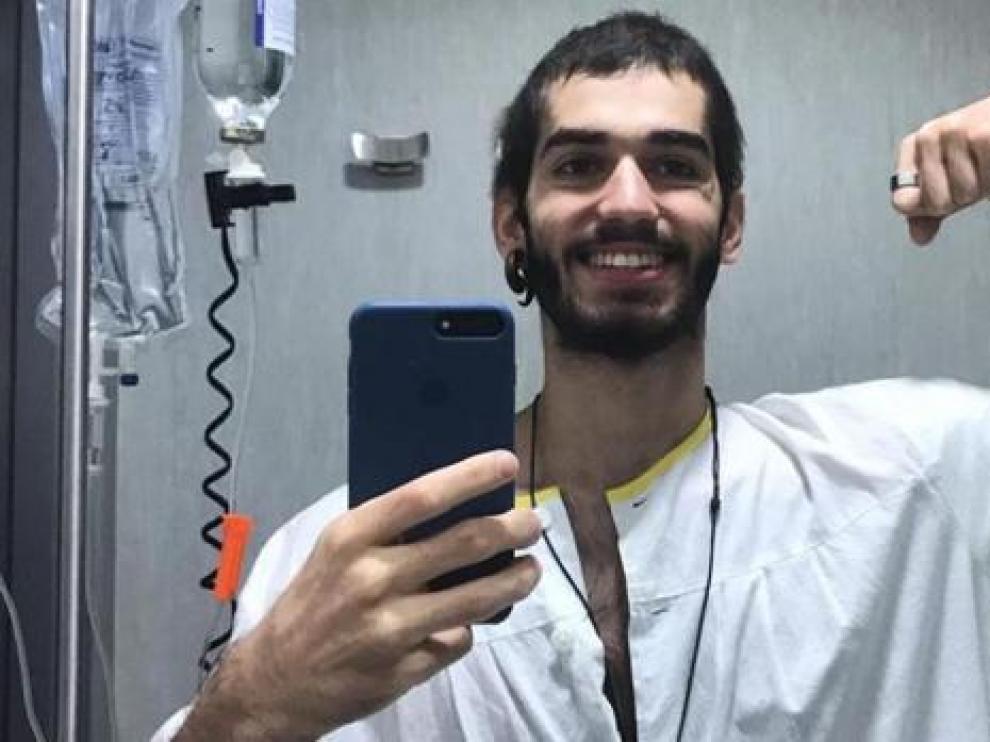 Pablo Ráez en el hospital.