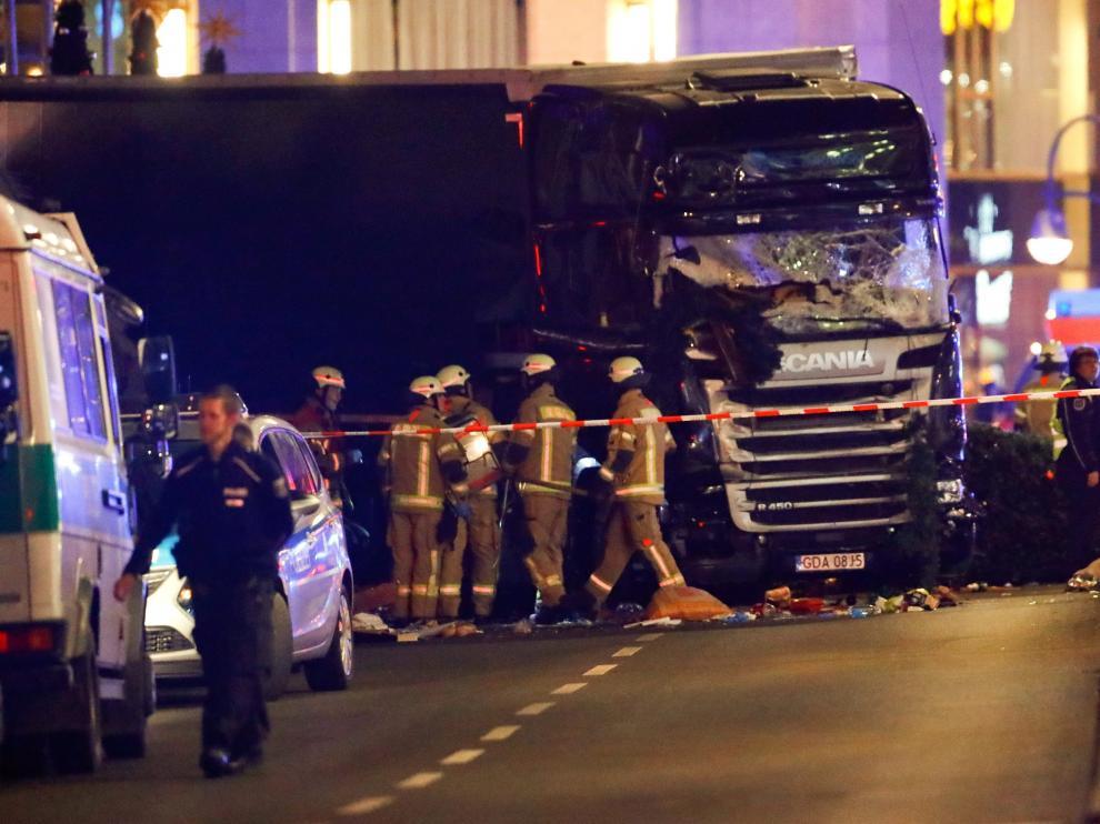 Un camión arrolla a varias personas en Berlín