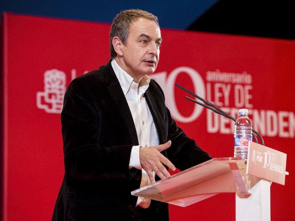 Zapatero durante su visista a Ejea el pasado fin de semana.