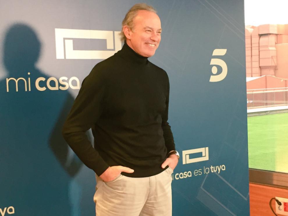 Bertín Osborne en la presentación de la programación navideña de Mediaset.