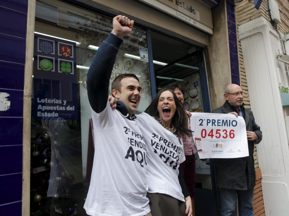Una administración de Zaragoza (Baltasar Gracián, 10) ha vendido un décimo del segundo premio, agraciado con 125.000 euros.