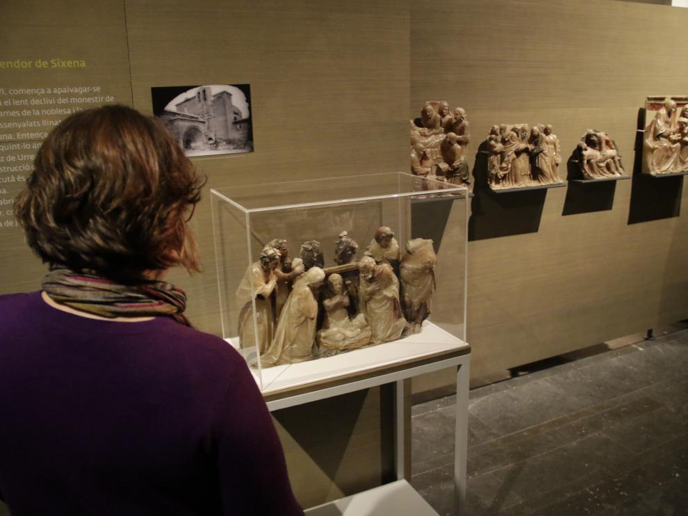 Piezas de Sijena en el Museo de Lérida.