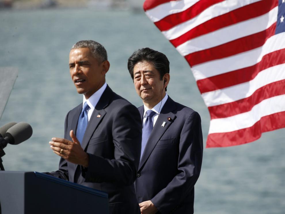 Barack Obama y Shinzo Abe sellan la alianza de EE.UU. y Japón en Pearl Harbor