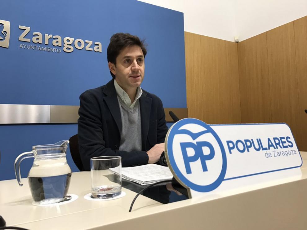 El concejal del PP en el Ayuntamiento de Zaragoza, Sebastián Contín, en una imagen de archivo.