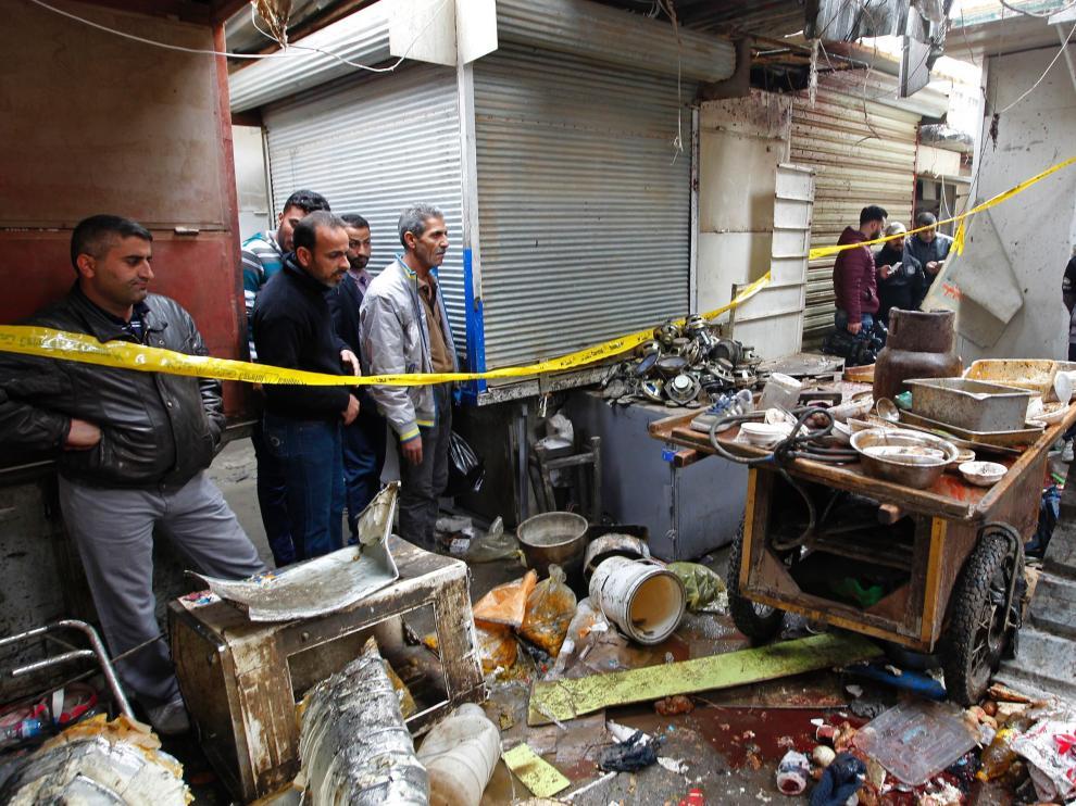 Lugar donde ocurrió el atentado.