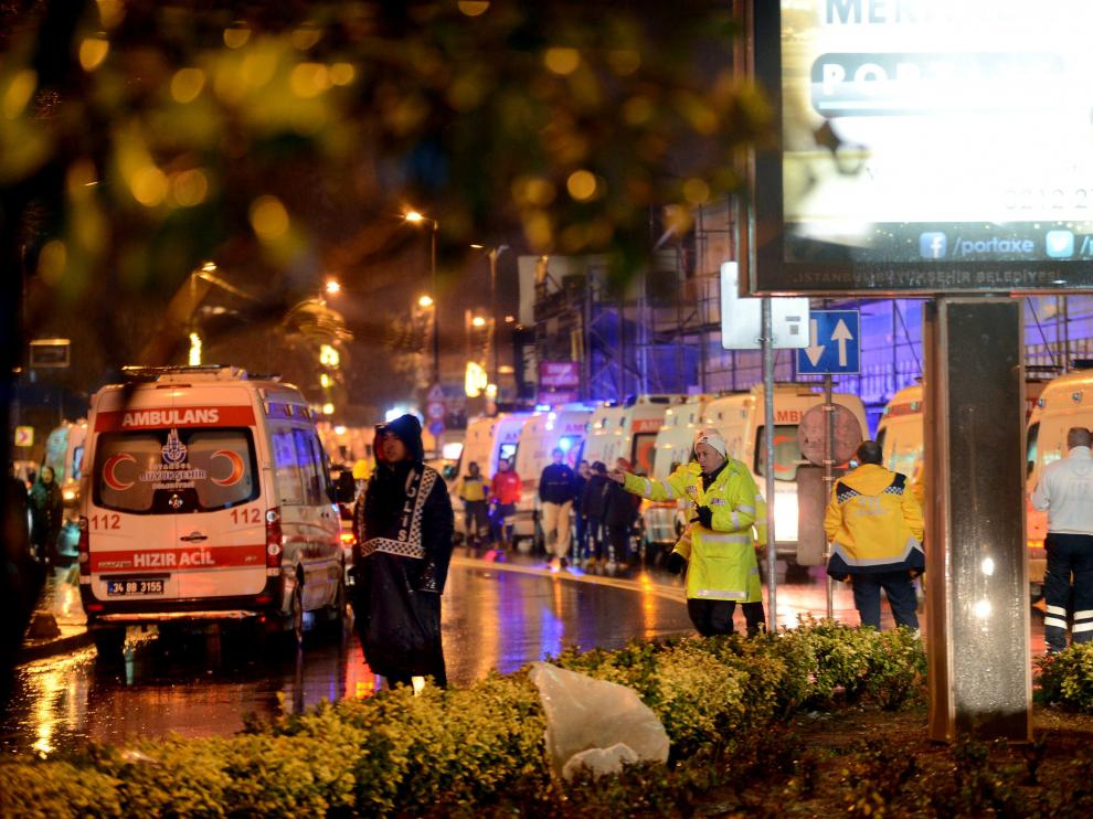 La noche del atentado en una discoteca de Estambul.