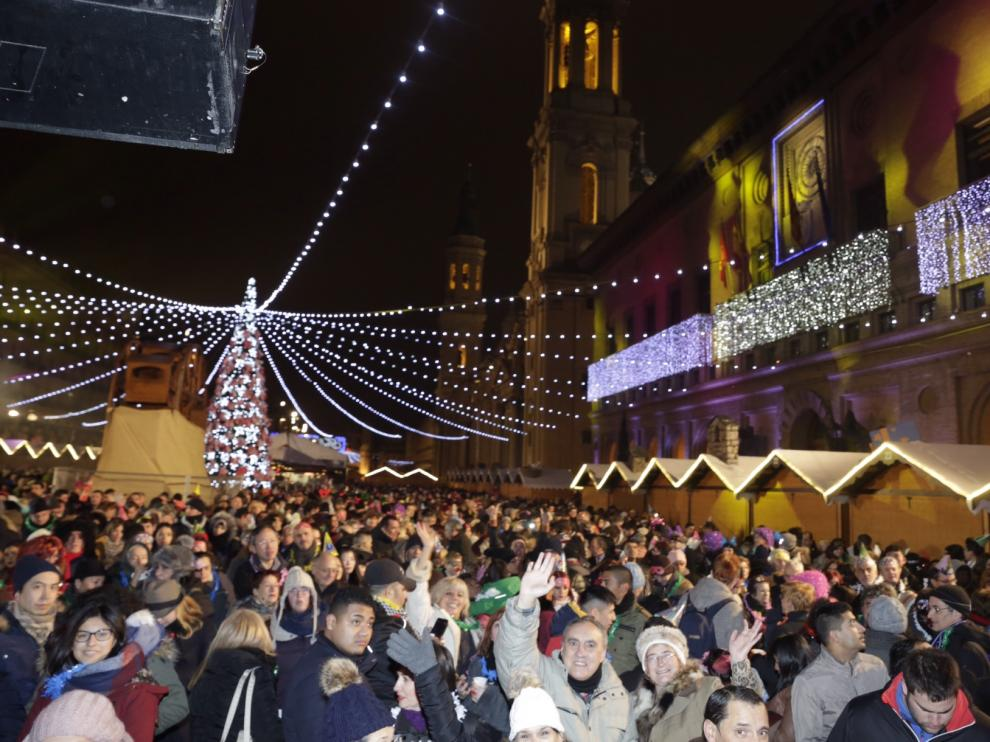 Nochevieja en la plaza del Pilar