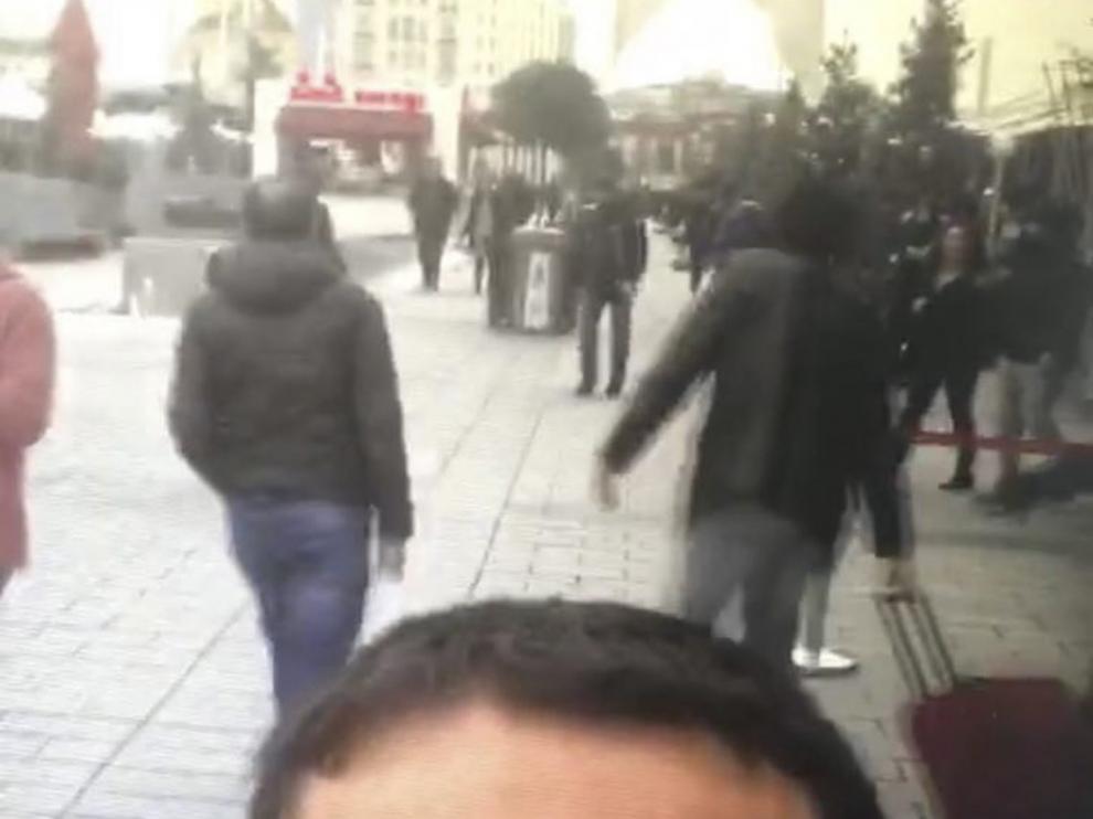 Imagen del sospechoso de perpetrar el atentado en Estambul.