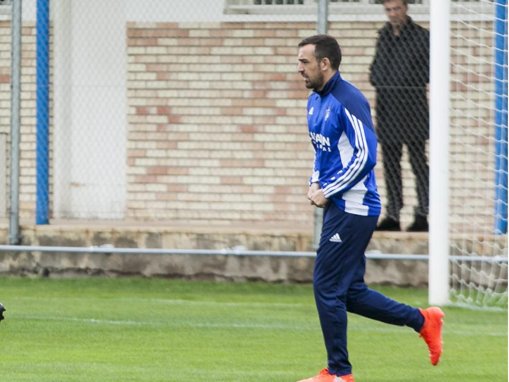 José Enrique, en el campo de entrenamientos de la Ciudad Deportiva en días pasados.