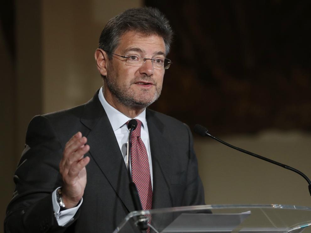 Rafael Catalá, el ministro de Justicia, durante