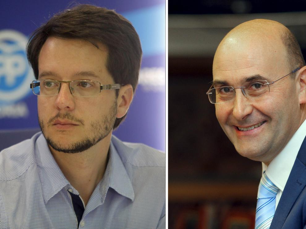 Los hasta ahora diputados provinciales Tomás Cabezón (PP), a la izquierda, y Jesús Manuel Alonso (PSOE)