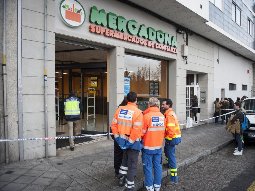 El supermercado de la cadena Mercadona donde se produjo el tiroteo.