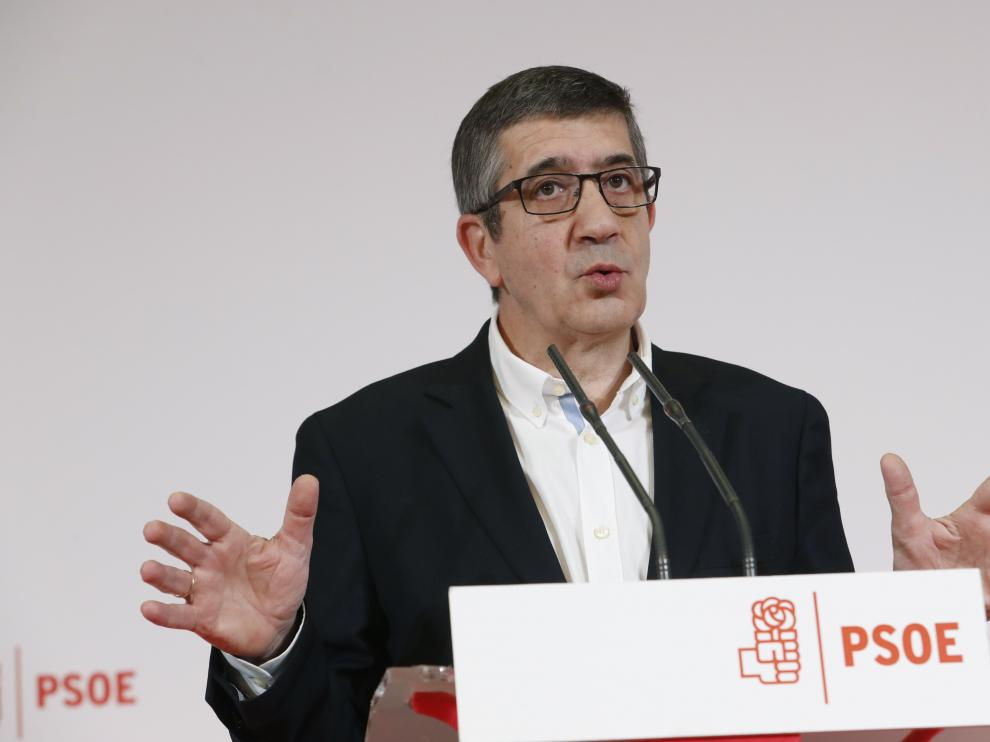 Patxi López presenta su candidatura a las primarias del PSOE