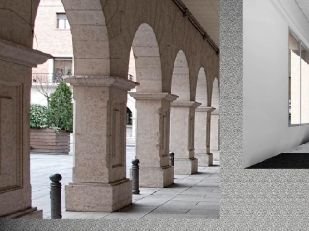 Recreación Palacio de Justicia de Teruel.
