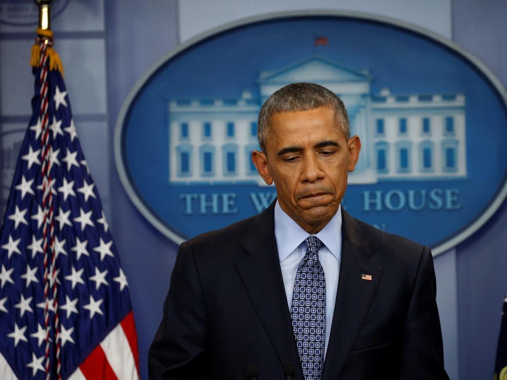 En la fotografía Barack Obama