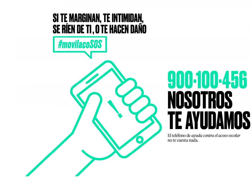 Imagen de la campaña del teléfono contra el acoso escolar.
