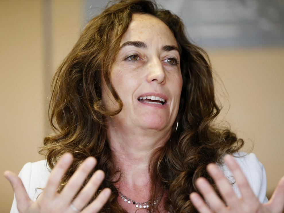 Carolina Punset en la oficina de la Unión Europea en Madrid.