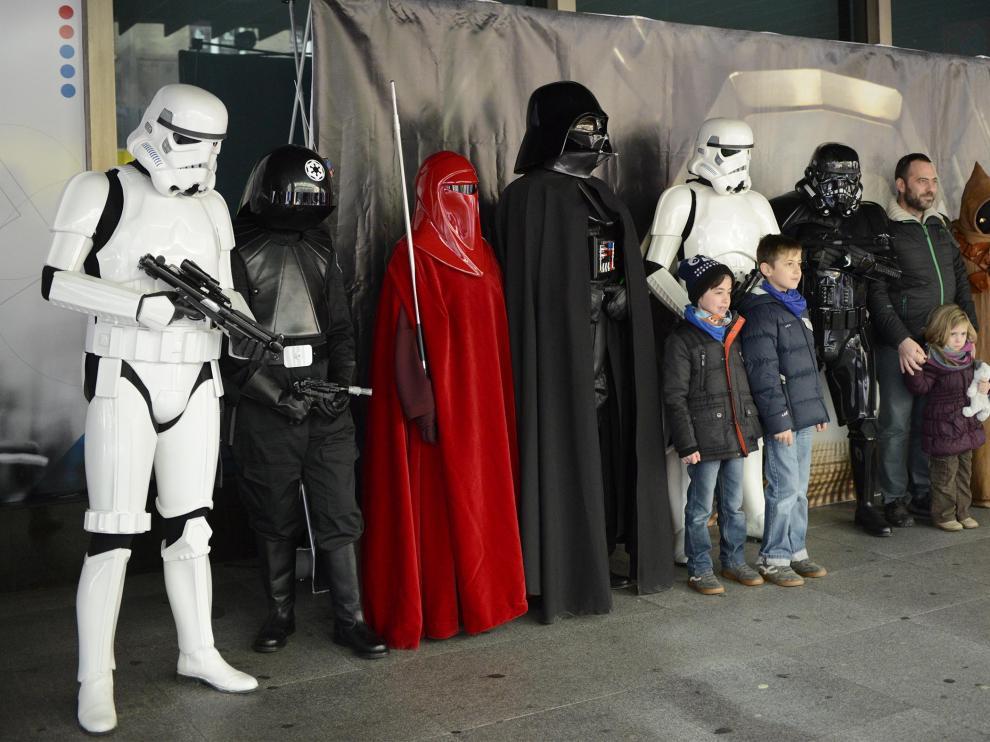 Photocall solidario con Star Wars