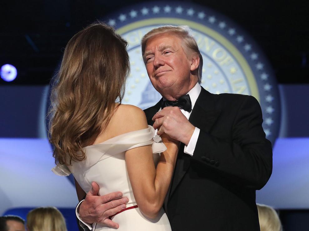 Trump y Melania, en uno de los bailes de la investidura.