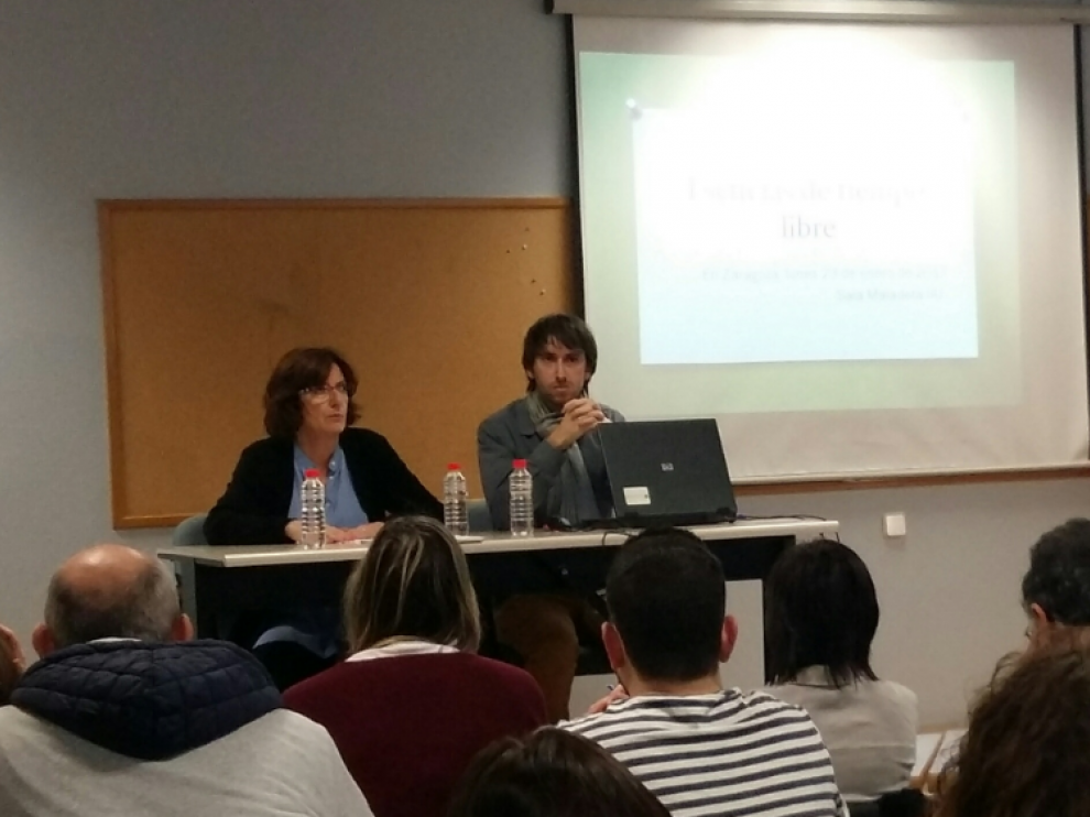 Broto ha participado en el IAJ en una reunión con los responsables de las Escuelas de Tiempo LIbre.