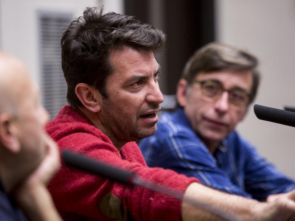Arturo Valls este martes en Zaragoza.