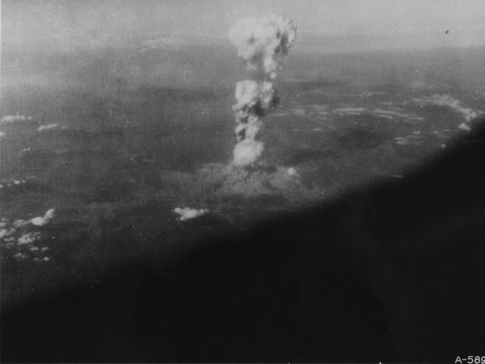 Imagen inédita hasta ahora del lanzamiento de la bomba.