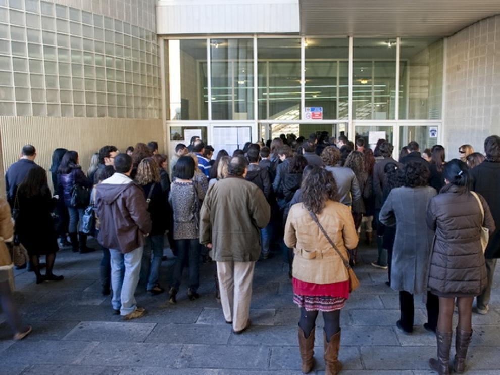 Imagen de archivo de unas oposiciones en Zaragoza.