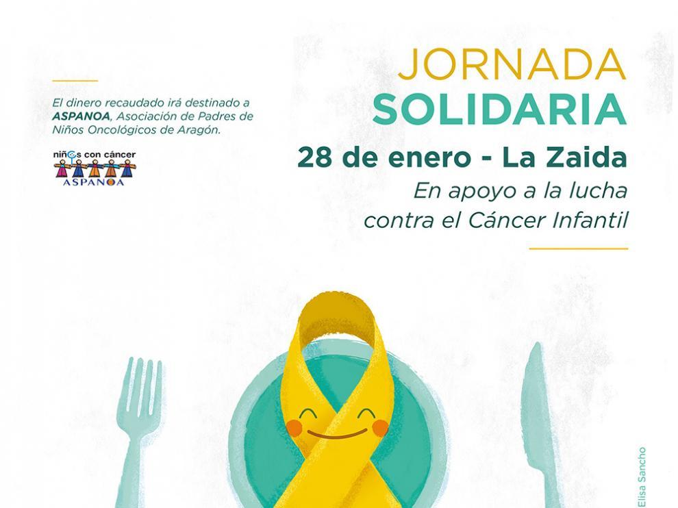 Cartel de la jornada solidaria en La Zaida.