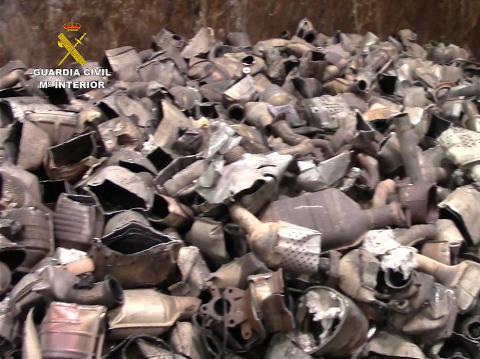 Material incautado a una banda que robaba catalizadores en Zaragoza y Teruel