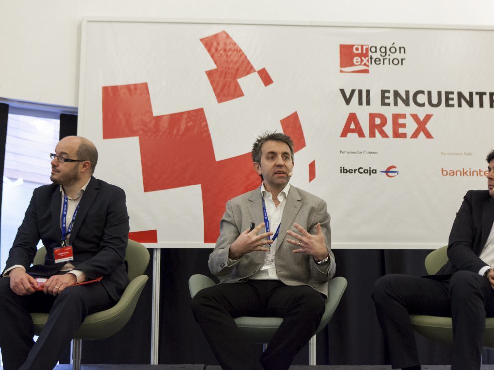 Una de las conferencias del VII Encuentro Internacional de Aragón Exterior protagonizada por Olivier Lamotte, de Amazon.