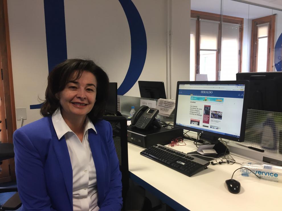 Olga Lázaro, psicopedagoga, en la redacción de HERALDO