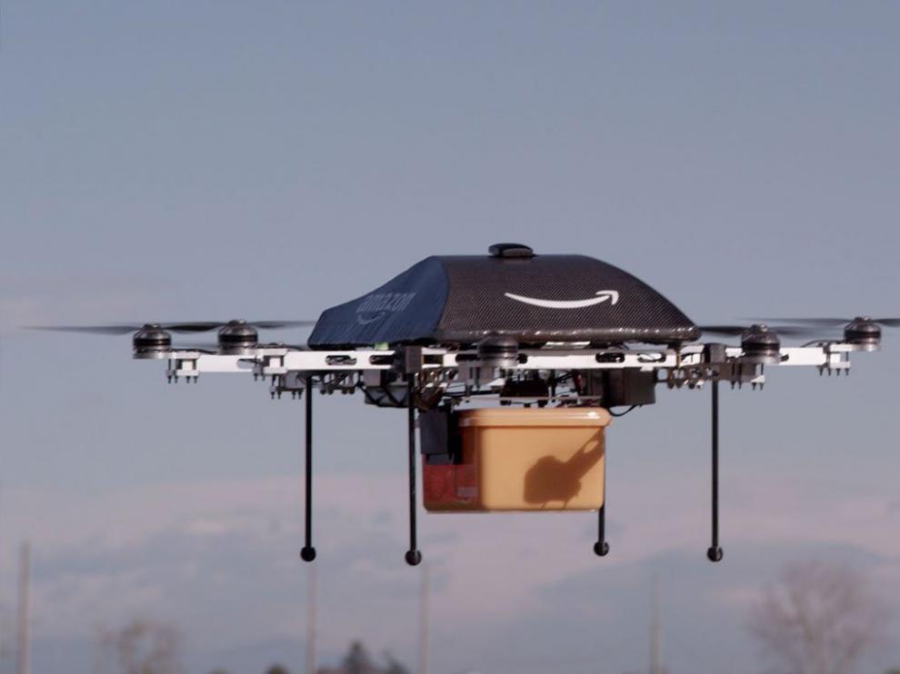 El repartidor dron de Amazon.
