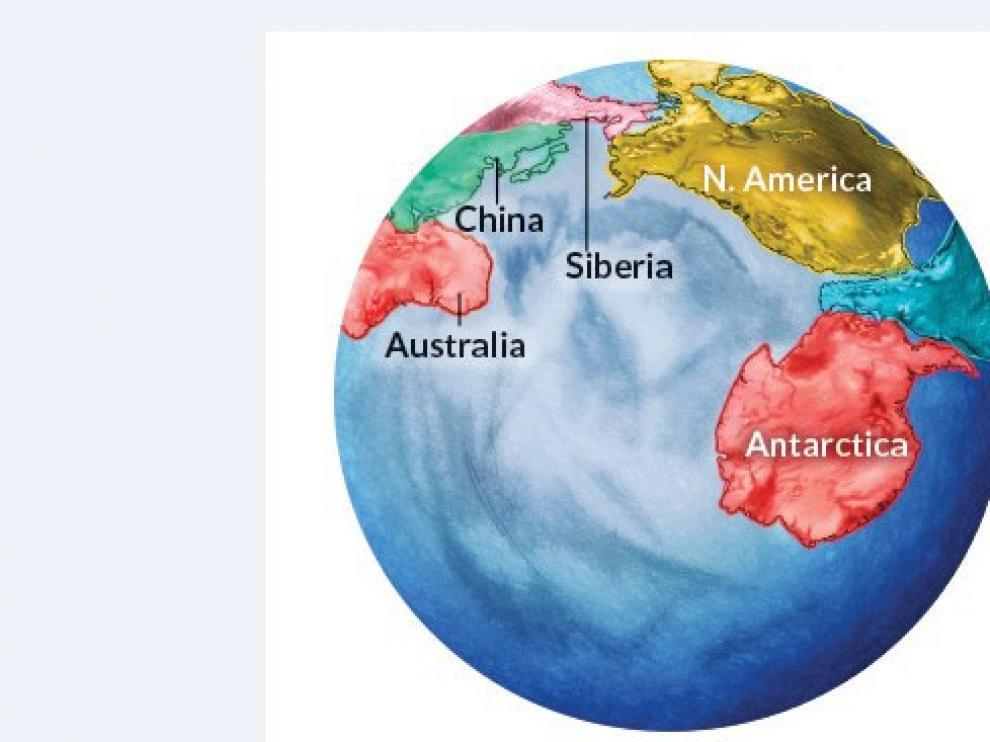 Las últimas modelizaciones apuntan a que dentro de unos 250 millones de años Norteamérica y Asia acabarán por converger y fusionarse, posiblemente junto a otras masas de tierra, para formar un futuro supercontinente: Amasia