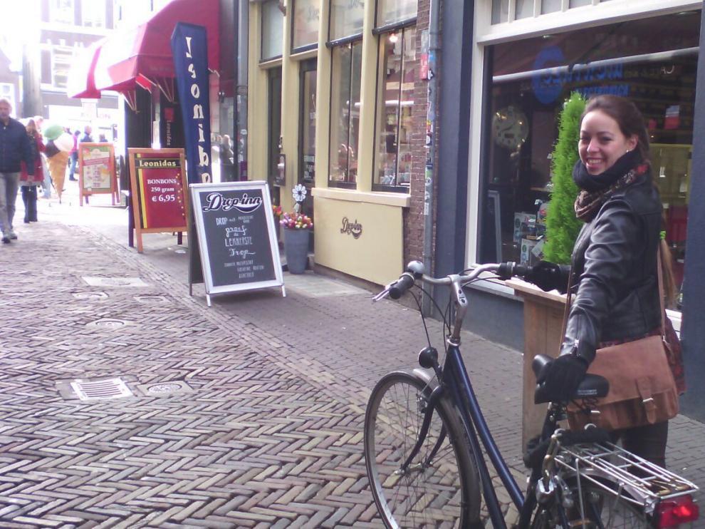 Marta Muñoz, en Utrecht (Holanda), ciudad en la que estudia un máster.