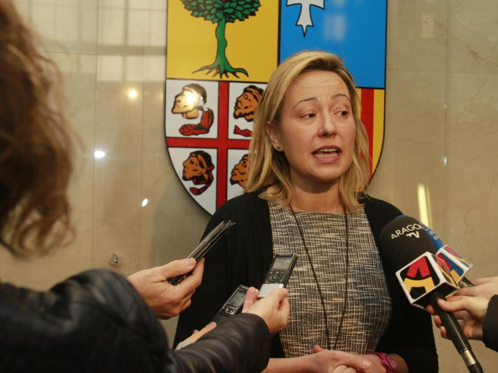 La consejera de Economía, Industria y Empleo del Gobierno de Aragón, Marta Gastón.