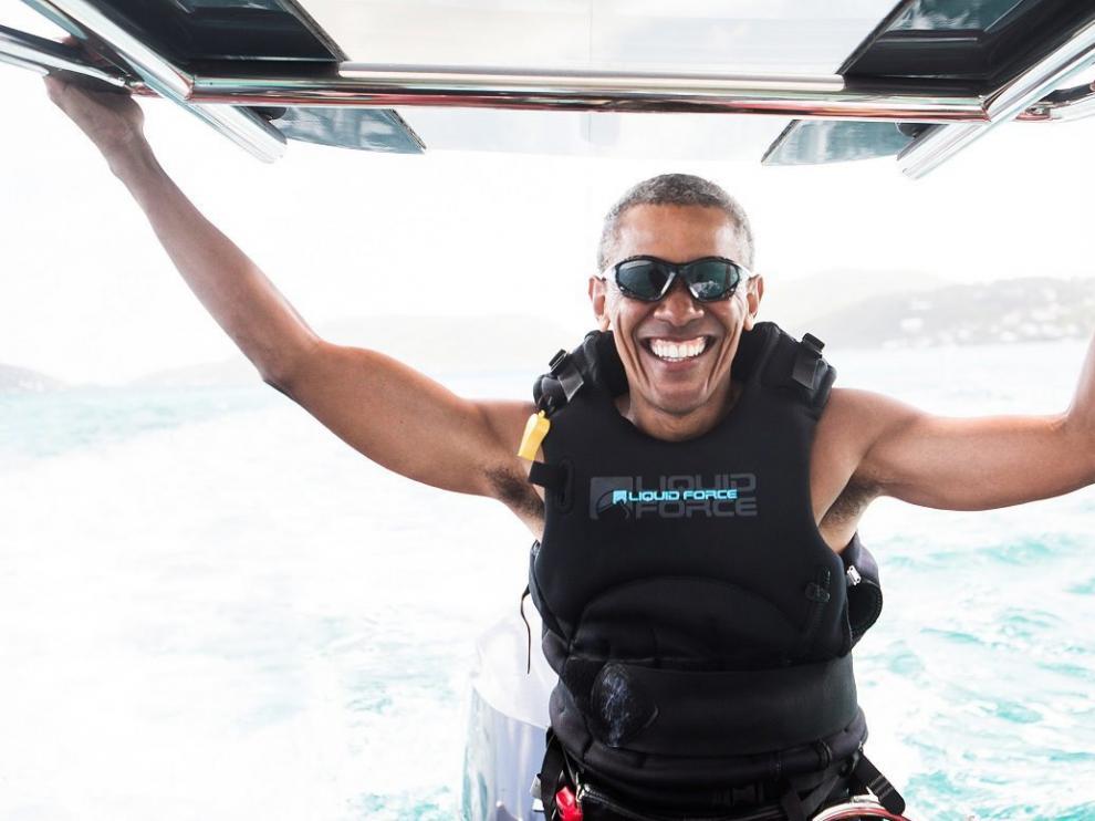 Obama en sus vacaciones.