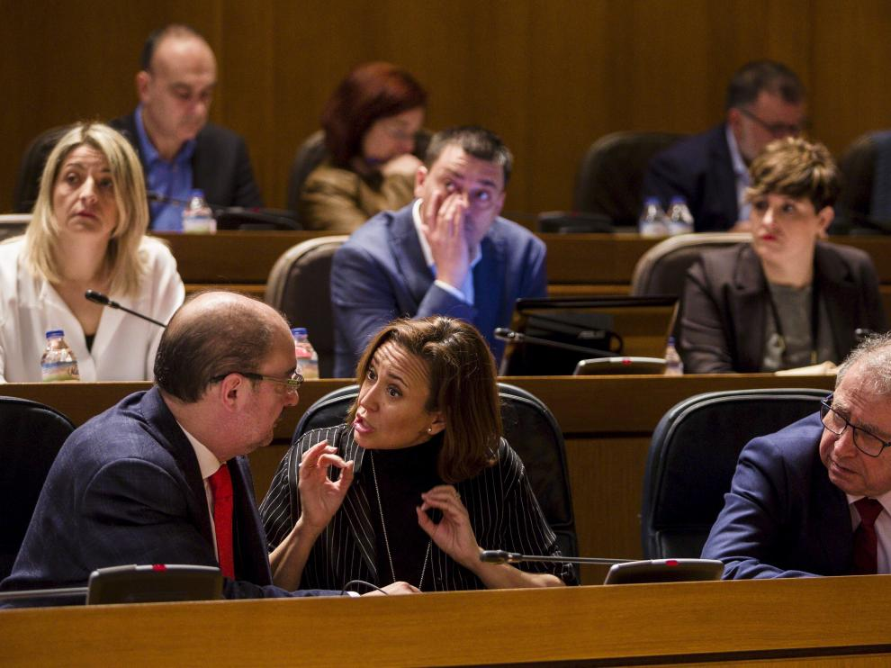El pleno de las Cortes de Aragón este miércoles.