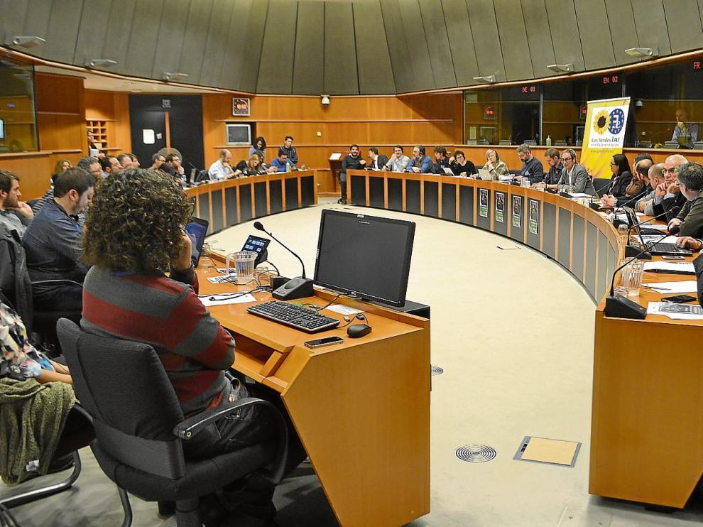 Un momento del debate celebrado ayer en Bruselas sobre el futuro de los territorios vinculados al carbón.