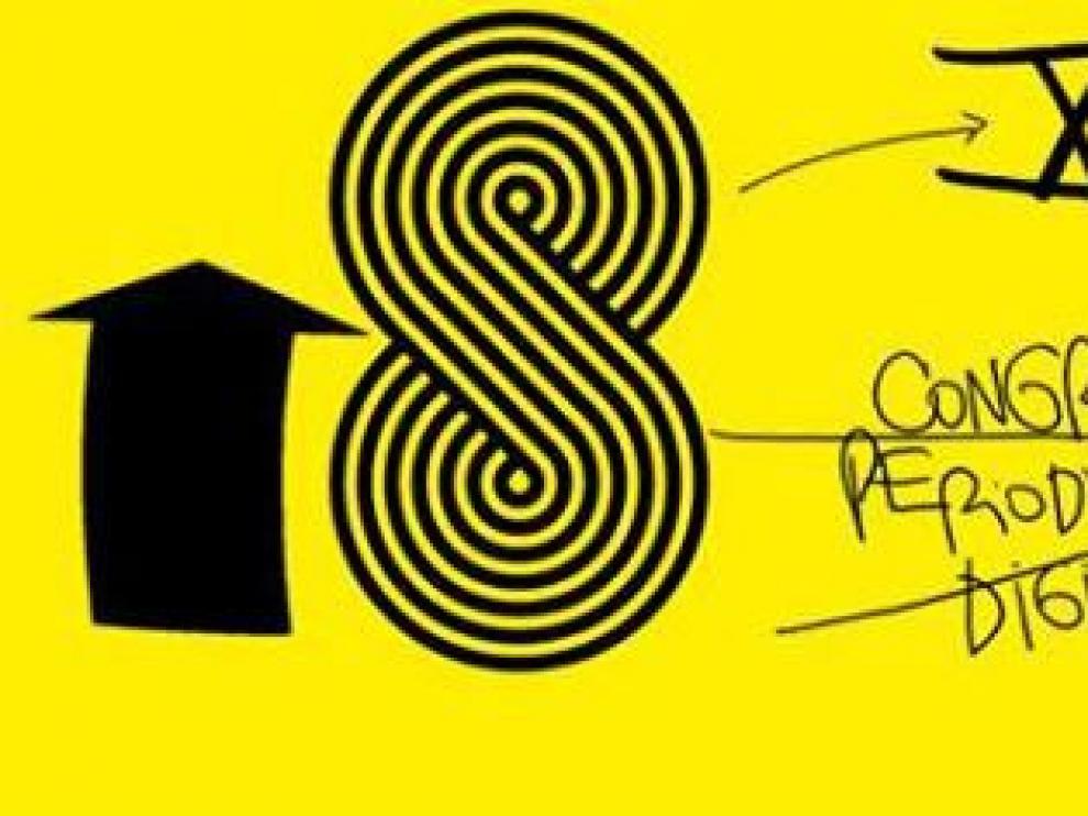 Cartel del XVIII Congreso de Periodismo Digital de Huesca.