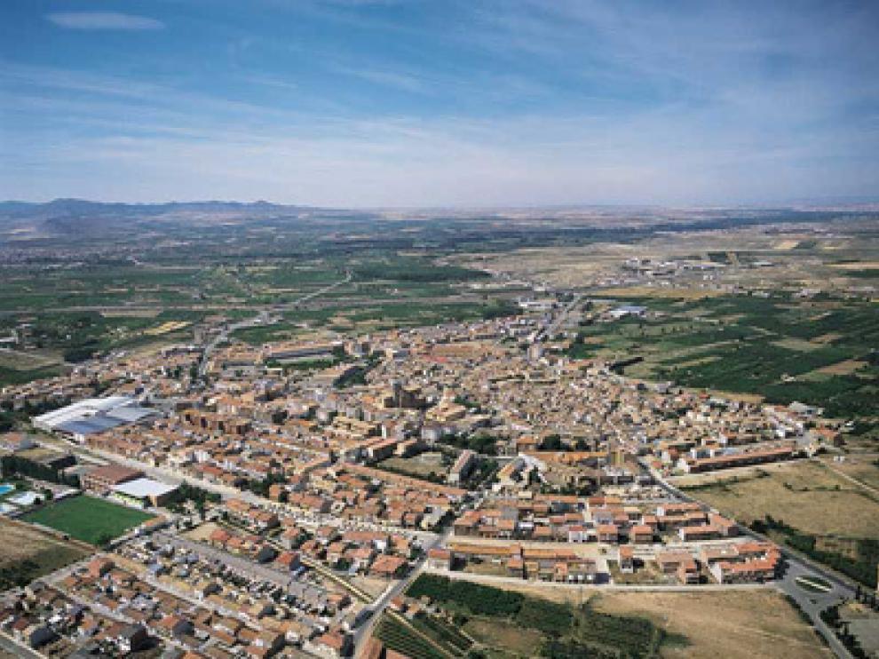 Vista aérea de La Almunia de Doña Godina.
