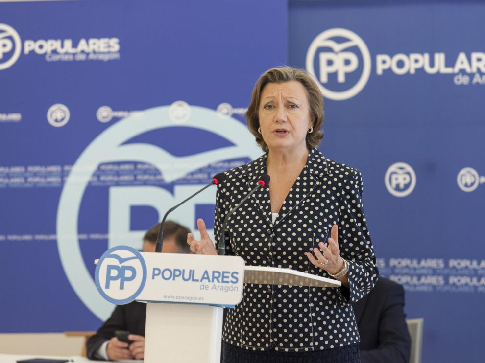La presidenta del PP en Aragón, Luisa Fernanda Rudi.