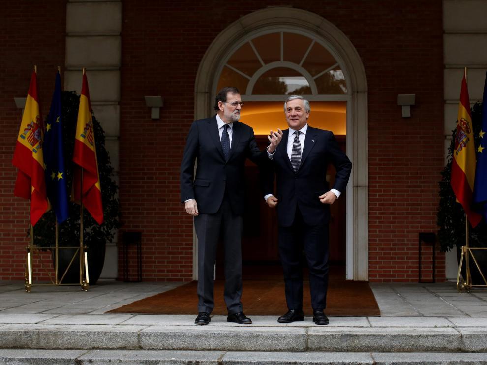 Tajani y Rajoy.